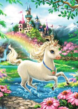Unicorn Castle Unicorns Jigsaw Puzzle