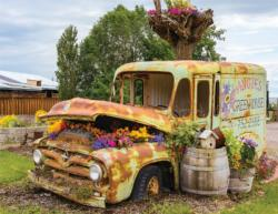 Flower Truck Vehicles Jigsaw Puzzle
