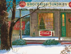 Coca Cola Christmas Store General Store Jigsaw Puzzle
