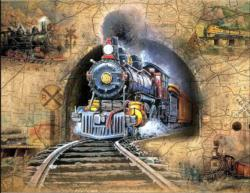 Full Speed Ahead! Trains Jigsaw Puzzle