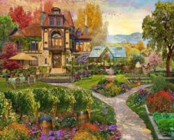 Vineyard Retreat Landscape Jigsaw Puzzle