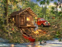 Cozy Cabin Life Lakes / Rivers / Streams Jigsaw Puzzle