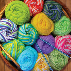 Colorful Yarn Collage Jigsaw Puzzle