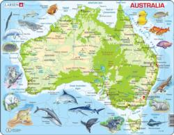 Australia Map With Animals Australia Children's Puzzles