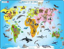Animals Of The World Maps / Geography Children's Puzzles