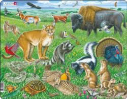 American Prairie Animals Children's Puzzles