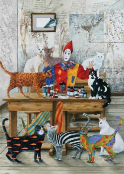 The Colored Cats Cats Jigsaw Puzzle
