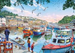 The Little Fishermen at the Harbor - Scratch and Dent Fishing Jigsaw Puzzle