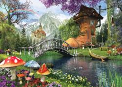 The Old Shoe House - Scratch and Dent Fantasy Jigsaw Puzzle