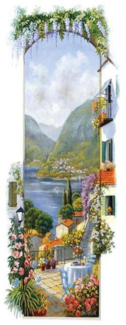 Lago Maggiore Seascape / Coastal Living Panoramic Puzzle