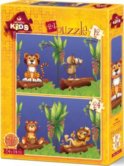 The Friends In The Forest Puzzle Set Jungle Animals Children's Puzzles
