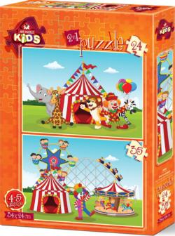 The Circus And The Fun Fair Puzzle Set Carnival Jigsaw Puzzle