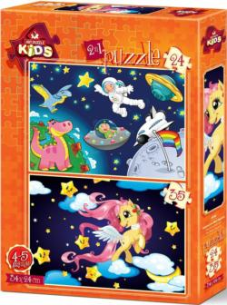 The Astronaut and the Baby Peg Puzzle Set Space Multi-Pack