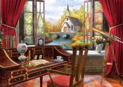 Study View Domestic Scene Jigsaw Puzzle