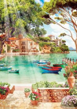Good Morning To The Peace Seascape / Coastal Living Jigsaw Puzzle