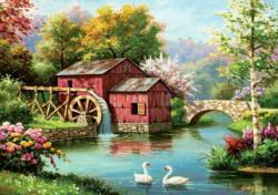 Old Red Mill Lakes / Rivers / Streams Jigsaw Puzzle
