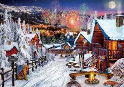 Winter Playground Domestic Scene Jigsaw Puzzle
