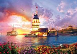 The Maiden's Tower - Scratch and Dent Sunrise / Sunset Jigsaw Puzzle