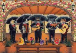 Flamenco Meow Group Music Jigsaw Puzzle