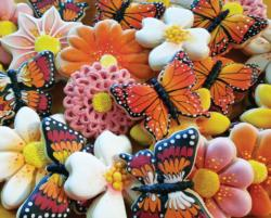 Butterfly Cookies Pattern / Assortment Jigsaw Puzzle