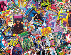 Comic Book Galore Collage Impossible Puzzle