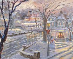 Cold Winter's Night Christmas Jigsaw Puzzle