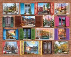 Windows to the World Collage Jigsaw Puzzle