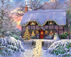 Yuletide Cottage Cottage / Cabin Jigsaw Puzzle