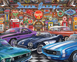 Dream Garage Americana & Folk Art Jigsaw Puzzle