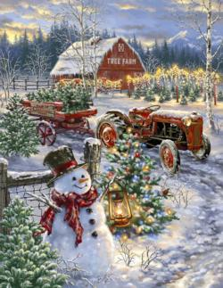 Christmas Tree Farm Christmas Jigsaw Puzzle