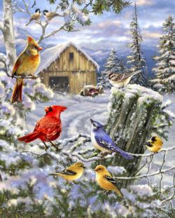 Frosty Morning Song Winter Jigsaw Puzzle