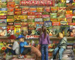 Comic Book Heaven Shopping Jigsaw Puzzle