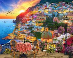 Positano Italy Romantic Setting Jigsaw Puzzle