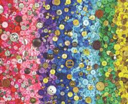 Bunches Of Buttons Collage Jigsaw Puzzle