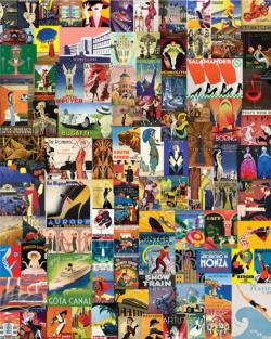 Delightful Deco Collage Jigsaw Puzzle