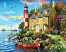 The Cottage Lighthouse - Scratch and Dent Lighthouses Jigsaw Puzzle