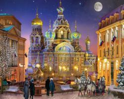 Russian Christmas Monuments / Landmarks Jigsaw Puzzle
