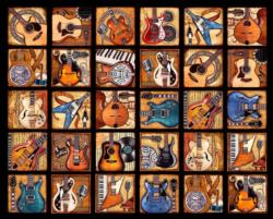 Six String Symphony Collage Jigsaw Puzzle