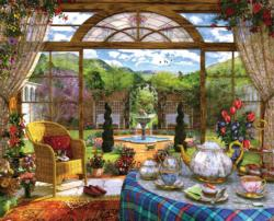 The Conservatory Domestic Scene Jigsaw Puzzle