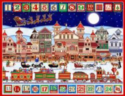 And to All a Good Night Folk Art Jigsaw Puzzle