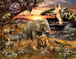 Wild Savanna Jungle Animals Family Puzzle
