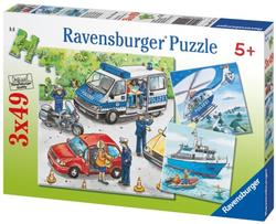 Police in Action Cartoons Children's Puzzles