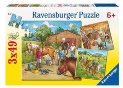 A Day with Horses Horses Children's Puzzles