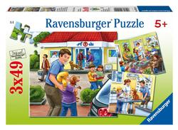 At the Animal Hospital Cartoons Children's Puzzles