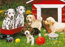 Puppy Party Dogs Jigsaw Puzzle