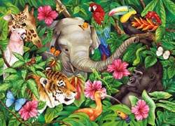 Tropical Friends Collage Jigsaw Puzzle