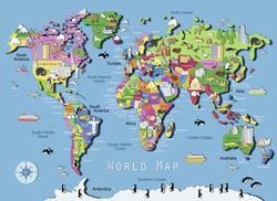 World Map Landmarks / Monuments Jigsaw Puzzle