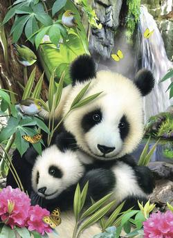 Panda Family Pandas Children's Puzzles