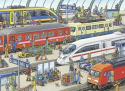 Railway Station Cartoons Children's Puzzles