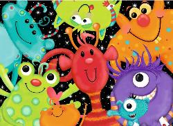 Monster Buddies Cartoons Children's Puzzles